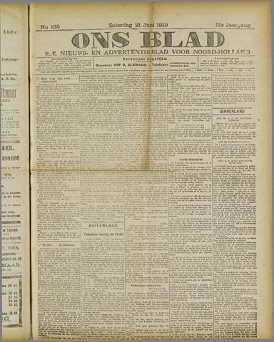 Ons Blad : katholiek nieuwsblad voor N-H 1919-06-21