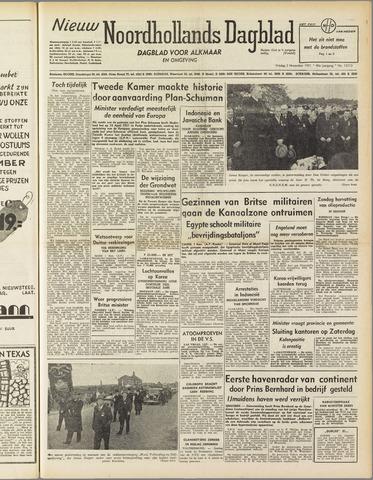 Nieuw Noordhollandsch Dagblad : voor Alkmaar en omgeving 1951-11-02