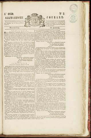 Alkmaarsche Courant 1850-01-14