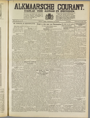 Alkmaarsche Courant 1941-04-24