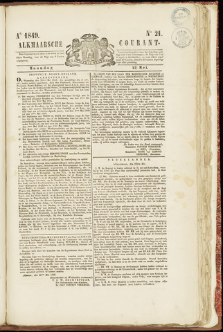 Alkmaarsche Courant 1849-05-21