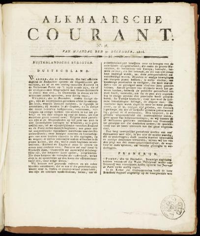 Alkmaarsche Courant 1816-12-30