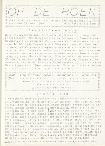Op De Hoek, weekblad voor Akersloot 1960-06-25