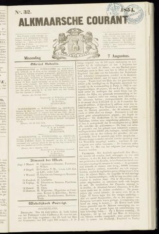 Alkmaarsche Courant 1854-08-07