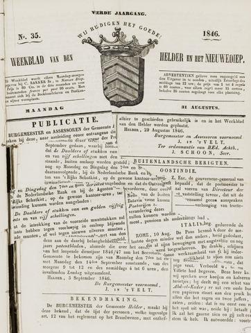 Weekblad van Den Helder en het Nieuwediep 1846-08-31