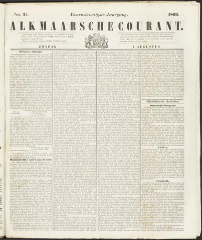 Alkmaarsche Courant 1869-08-01
