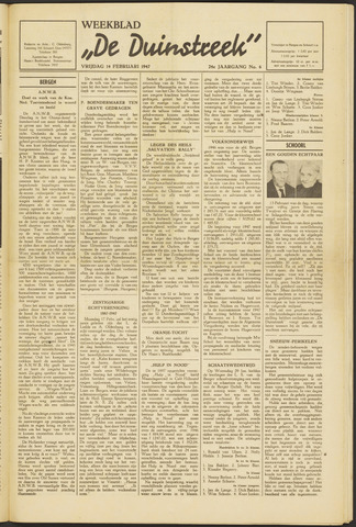 De Duinstreek 1947-02-14