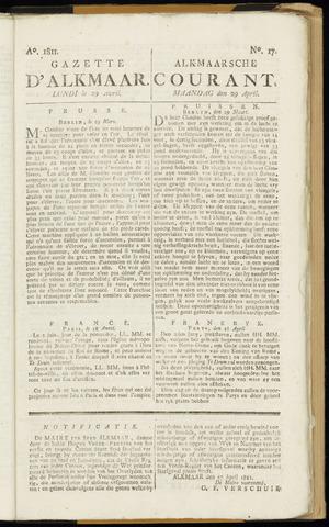 Alkmaarsche Courant 1811-04-29