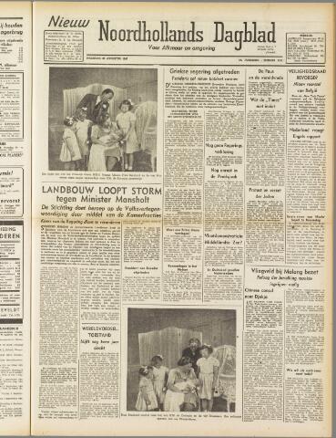 Nieuw Noordhollandsch Dagblad : voor Alkmaar en omgeving 1947-08-25