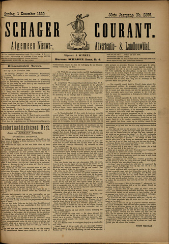 Schager Courant 1889-12-01
