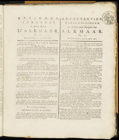 Alkmaarsche Courant 1812-04-22