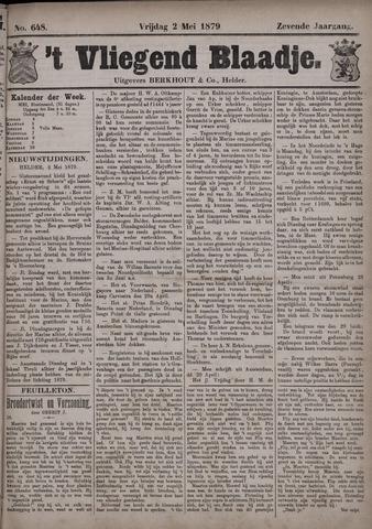 Vliegend blaadje : nieuws- en advertentiebode voor Den Helder 1879-05-02