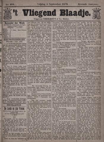 Vliegend blaadje : nieuws- en advertentiebode voor Den Helder 1879-09-05
