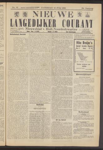 Nieuwe Langedijker Courant 1930-07-12