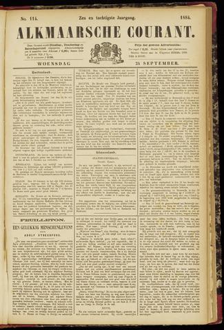 Alkmaarsche Courant 1884-09-24