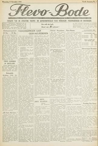 Flevo-bode: nieuwsblad voor Wieringen-Wieringermeer 1948-11-17