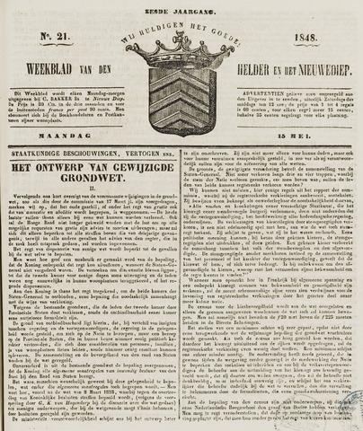Weekblad van Den Helder en het Nieuwediep 1848-05-15