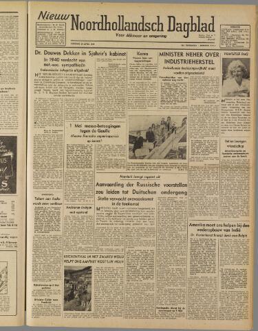 Nieuw Noordhollandsch Dagblad : voor Alkmaar en omgeving 1947-04-29