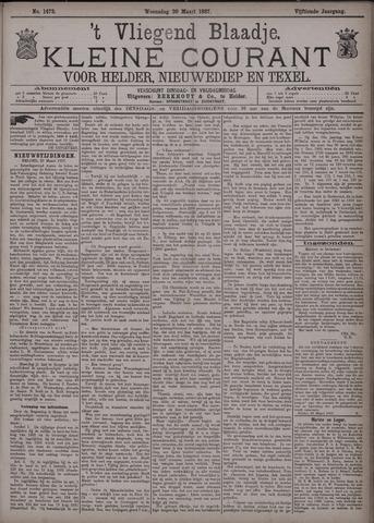 Vliegend blaadje : nieuws- en advertentiebode voor Den Helder 1887-03-30