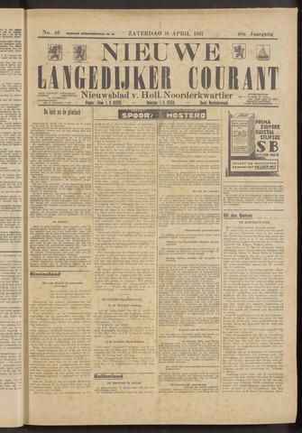 Nieuwe Langedijker Courant 1931-04-18