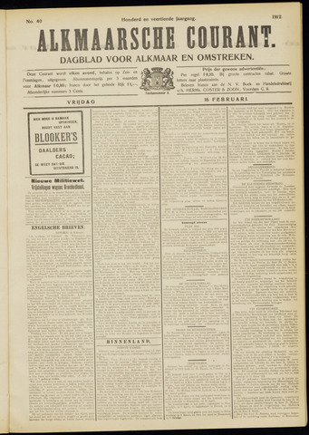 Alkmaarsche Courant 1912-02-16