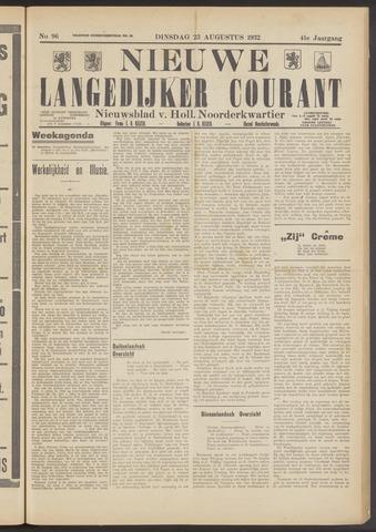 Nieuwe Langedijker Courant 1932-08-23