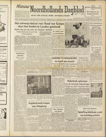 Nieuw Noordhollandsch Dagblad : voor Alkmaar en omgeving 1949-05-06