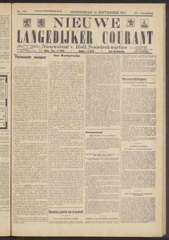 Nieuwe Langedijker Courant 1932-09-15