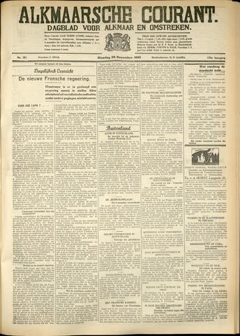 Alkmaarsche Courant 1933-11-28