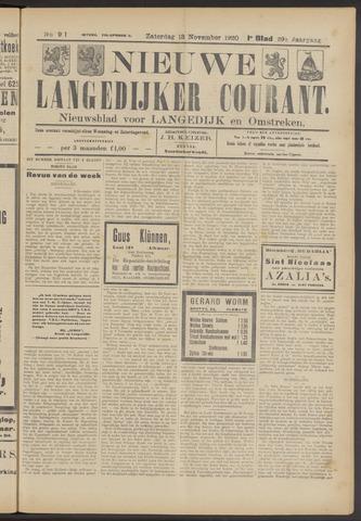 Nieuwe Langedijker Courant 1920-11-13