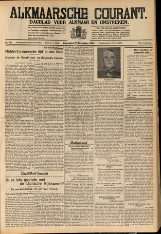 Alkmaarsche Courant 1934-11-21