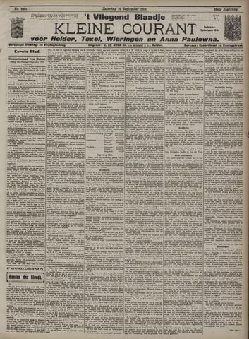 Vliegend blaadje : nieuws- en advertentiebode voor Den Helder 1910-09-10