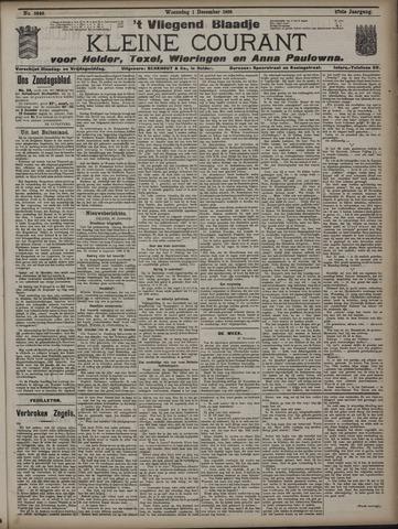 Vliegend blaadje : nieuws- en advertentiebode voor Den Helder 1909-12-01