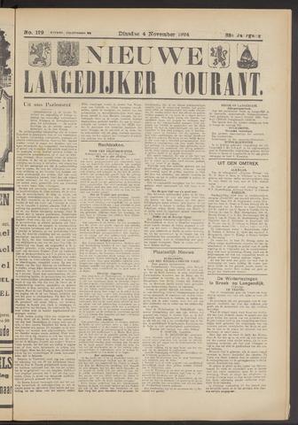 Nieuwe Langedijker Courant 1924-11-04
