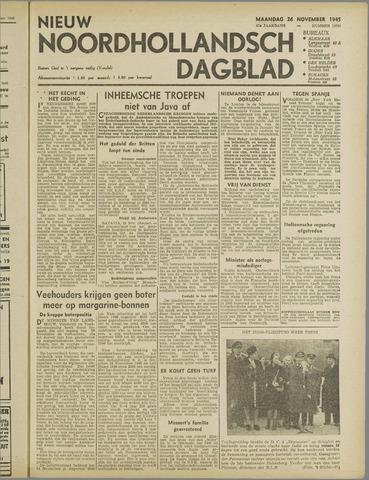 Nieuw Noordhollandsch Dagblad : voor Alkmaar en omgeving 1945-11-26