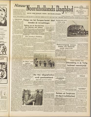 Nieuw Noordhollandsch Dagblad : voor Alkmaar en omgeving 1949-09-02