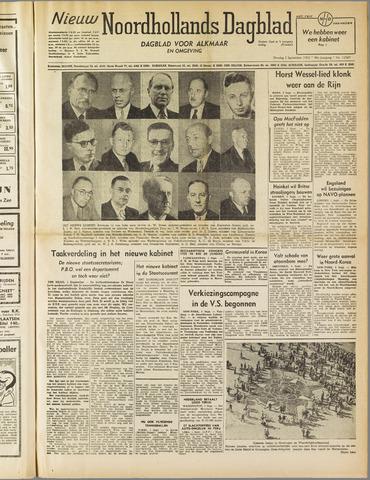 Nieuw Noordhollandsch Dagblad : voor Alkmaar en omgeving 1952-09-02