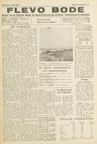 Flevo-bode: nieuwsblad voor Wieringen-Wieringermeer 1946-07-31