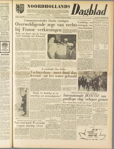 Noordhollands Dagblad : dagblad voor Alkmaar en omgeving 1958-12-01