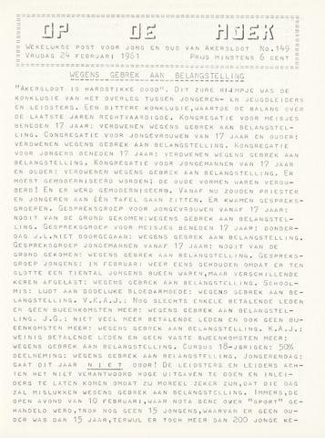 Op De Hoek, weekblad voor Akersloot 1961-02-24