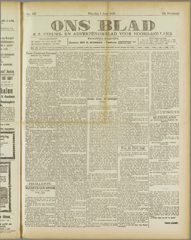 Ons Blad : katholiek nieuwsblad voor N-H 1920-06-01