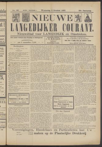 Nieuwe Langedijker Courant 1920-10-06