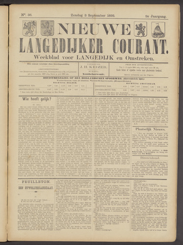 Nieuwe Langedijker Courant 1893-09-03