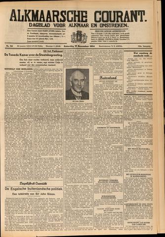 Alkmaarsche Courant 1934-11-10