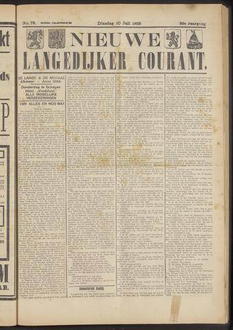 Nieuwe Langedijker Courant 1923-07-10