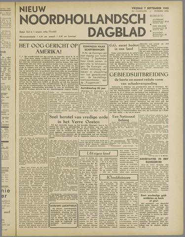 Nieuw Noordhollandsch Dagblad : voor Alkmaar en omgeving 1945-09-07