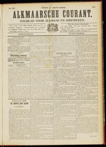 Alkmaarsche Courant 1907-11-28