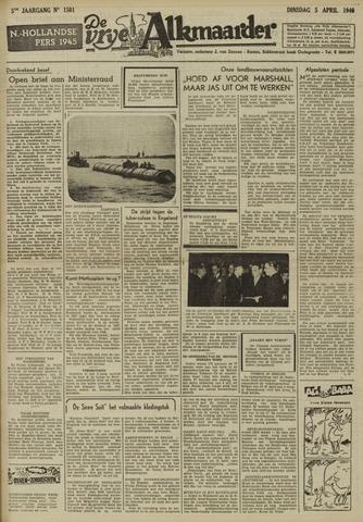 De Vrije Alkmaarder 1949-04-05