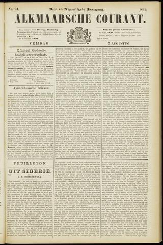 Alkmaarsche Courant 1891-08-07