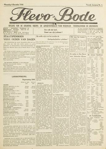Flevo-bode: nieuwsblad voor Wieringen-Wieringermeer 1946-12-04